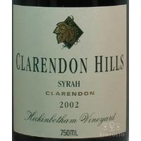 1998 Clarendon Hills Shiraz Hickinbotham