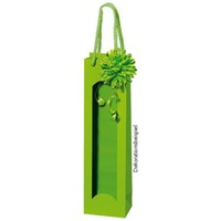 Papiertüte hellgrün mit Folienfenster 1er