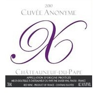 2010 Chateauneuf du Pape Cuvee Anonyme Rouge Xavier Vins 75cl